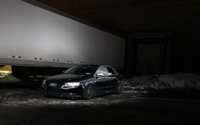 Picture Audi, black, tuning, frontside