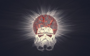 Picture the explosion, fiction, planet, Star Wars, attack, Star wars, Stormtrooper