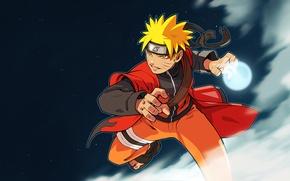 Picture Star, naruto, Anime, naruto, Rasengan, Sage Mode.