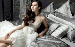 Picture model, beauty, sofa, Fan Bingbing