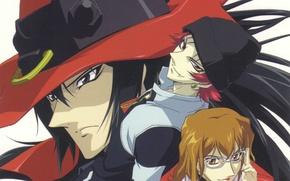 Picture hat, vampires, art, silver blade, time clock, jira mochizuki, black blood brothers, black blood brathers, …