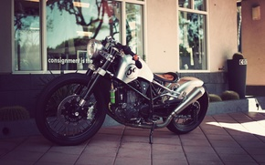 Picture motorcycle, custom, bobber