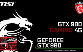Picture GTX, Gaming, Geforce, MSI, 980
