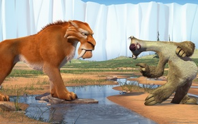 Wallpaper ice age, Ace age 2, Diego, Led