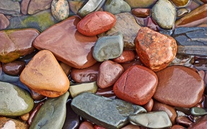 Wallpaper water, stones