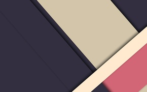 Picture line, blue, abstraction, pink, geometry, beige, material