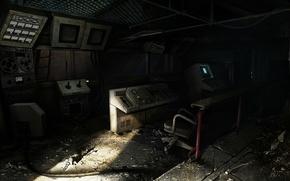 Picture computer, Stalker, abandoned building, control panel, stalker 2
