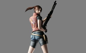 Picture girl, weapons, resident evil, Claire Redfield, resident evil operation raccoon city