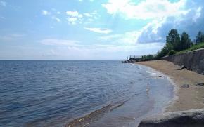 Picture #lake, #sand, #beach