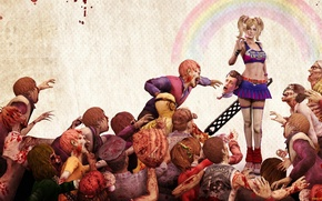 Picture blood, zombies, saw