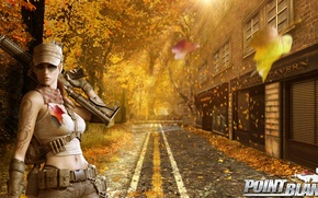 Picture autumn, girl, weapons, viper, autumn, midtown, Viper, point blank, pb., loadscreen, PointBlank, Midtown