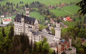Picture landscape, castle, Bayern, Neuschwanstein