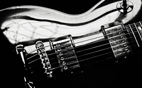 Picture guitar, strings, electro, gibson