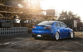 Picture Blue, Desktop, Mitsubishi, Lancer, Evolution, Car, Beautiful, Style, Lancer, JDM, Wallpaper, Automobiles, Evolution, Mitsubishi