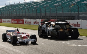 Wallpaper car, Toyota, the, Batmobile, from, at Silverstone, with, The Dark Knight movie