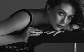 Picture look, photo, model, makeup, actress, hairstyle, black and white, journal, Elizabeth Olsen, Elizabeth Olsen, Flaunt