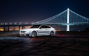 Picture BMW, City, Car, Bridge, White, Collection, Aristo, F82, Ligth, Nigth