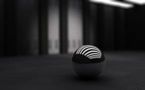 Wallpaper ball, black, strip, white
