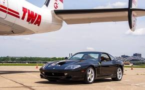 Picture Ferrari, Black, 550, Maranello, 1996