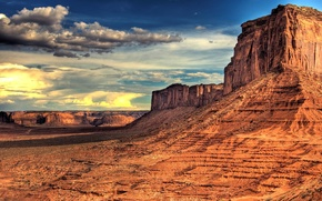 Picture the sky, clouds, landscape, mountains, rocks, desert, America, mountains, view, clouds, landscapes