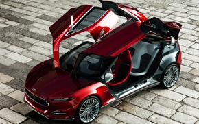 Picture Concept, Ford, Open, Doors, Evos