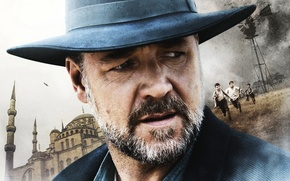 Picture face, hat, beard, poster, closeup, Russell Crowe, Russell Crowe, The Water Diviner, The water seeker