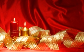 Wallpaper holiday, Christmas, candle, New year