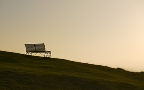 Picture the sky, background, bench