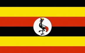 Picture Black, Yellow, Flag, Orange, Uganda, Uganda, Horizontally