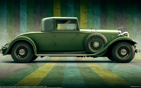 Picture Lincoln, figure, art, Coupe, classics, 1932, Alexandr Novitskiy