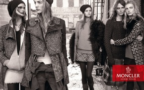 Picture Fall, Winter, Campaign, Maartje Verhoef, Gamme Rouge, Moncler, Nicola Wincenc, Kate Grigorieva, Julia van Os, …