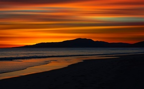 Picture Serenity, Andalusia, Tarifa, sunset on the beach