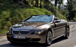 Picture road, tuning, speed, blur, BMW, BMW, convertible, dynamics, 6 series