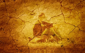 Wallpaper Earth, the inscription, cracked, book, guy
