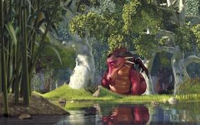 Picture lake, Shrek, dragon