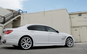 Picture BMW, white, 7 series