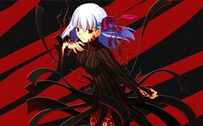 Picture Girl, Red, Anime, Fate/Stay Night, Black, Type-Moon, Matou Sakura