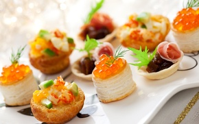 Picture caviar, shrimp, seafood, sandwiches, Fast food, Seafoods