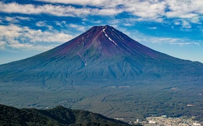 Picture nature, mountain, the volcano, Japan, Fuji