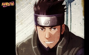 Picture portrait, Naruto, grin, art, vest, ninja, Naruto Shippuden, Konoha, Masashi Kishimoto, Located Sarutobi, bandage on …
