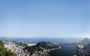 Wallpaper the sky, the city, Brazil, rio de janeiro, Rio