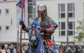 Picture metal, horse, armor, warrior, knight