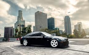 Picture BMW, wheels, black, E60, frontside