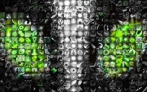Picture look, green, magic, lightning, MAG, dota, DotA, DotA 2, Rubik, dota 2, rubik