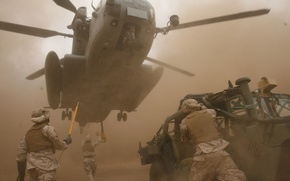 Wallpaper soldiers, helicopter, transportation