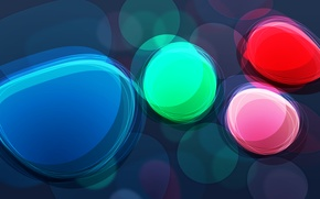 Picture color, circles, abstraction, brightness, wallpapers