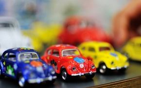 Picture machine, blue, yellow, red, cars, cars