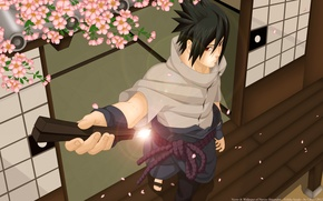 Wallpaper naruto, art, guy, sword, luffy-san92, katana, Sakura, uchiha sasuke