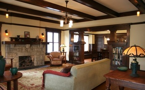 Picture design, style, interior, fireplace, living room, .