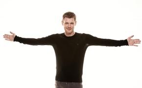 Picture white, background, actor, male, Joseph Morgan, Joseph Morgan